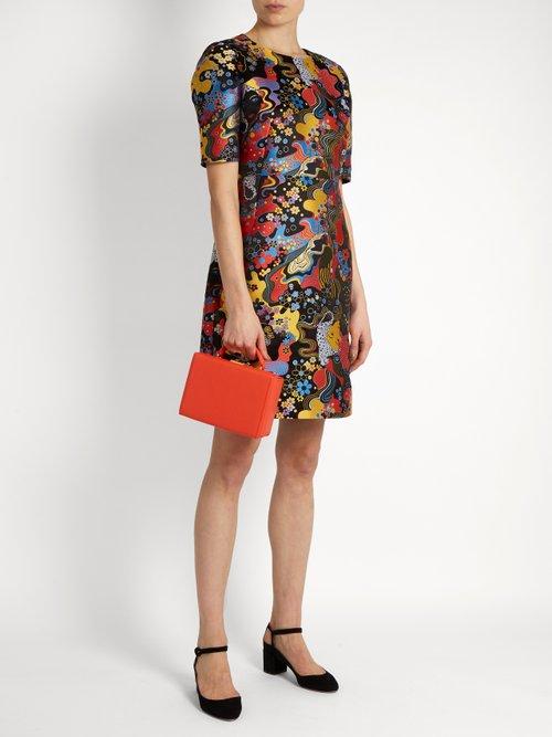 Mayfield short-sleeved jacquard dress by Mary Katrantzou