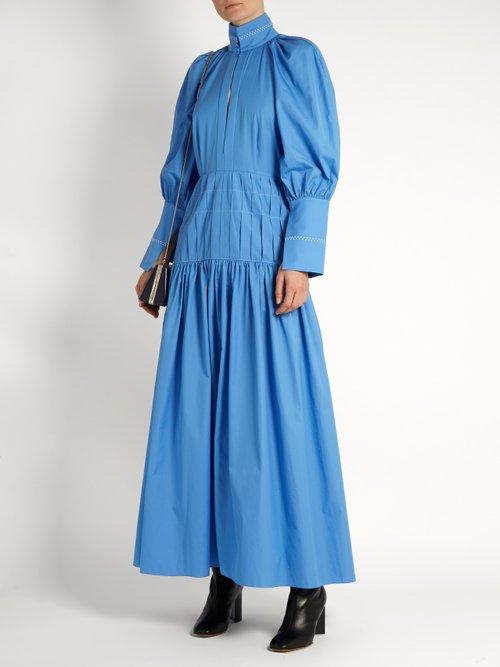 Sword bubble-sleeved cotton-blend maxi dress by Ellery