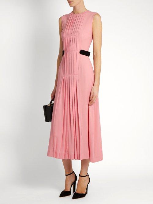 Jolley pleated wool-crepe dress by Emilia Wickstead