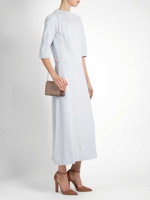 Thais round-neck crepe midi dress by Emilia Wickstead