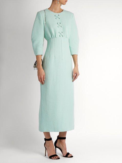 Fabia shantung-tweed dress by Emilia Wickstead