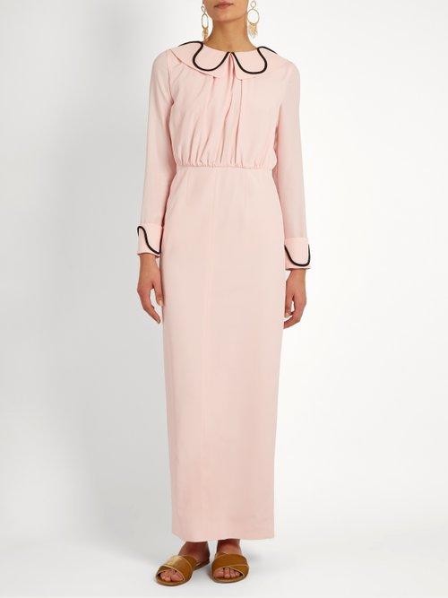 Gia crepe midi dresss by Emilia Wickstead