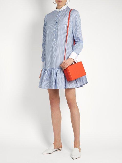 Mandarin-collar cotton-poplin shirtdress by Alexander Mcqueen
