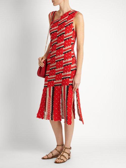 Anat asymmetric-neckline cotton dress by Tabula Rasa