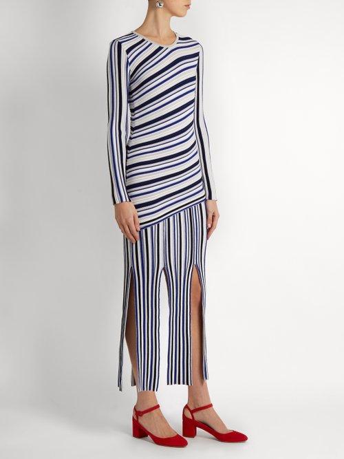 Theia long-sleeved striped dress by Tabula Rasa