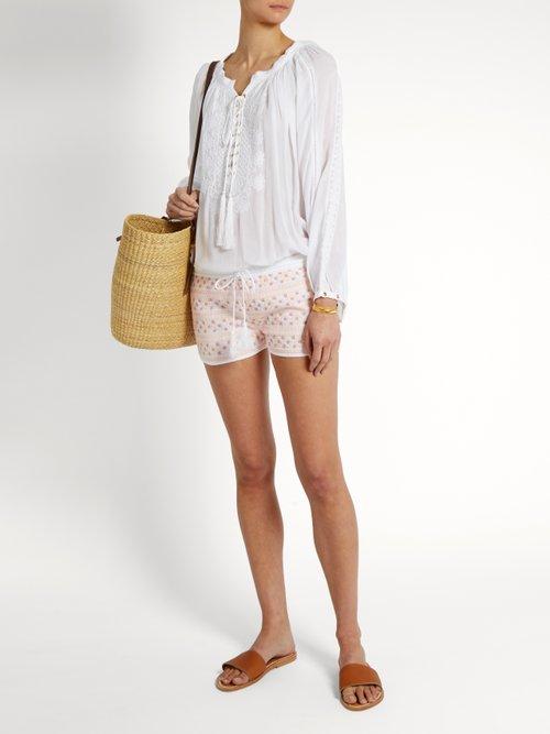 Carolina embroidered shorts by Melissa Odabash