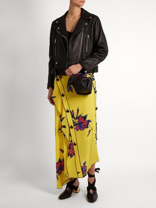 Elephant mini leather cross-body bag by Loewe