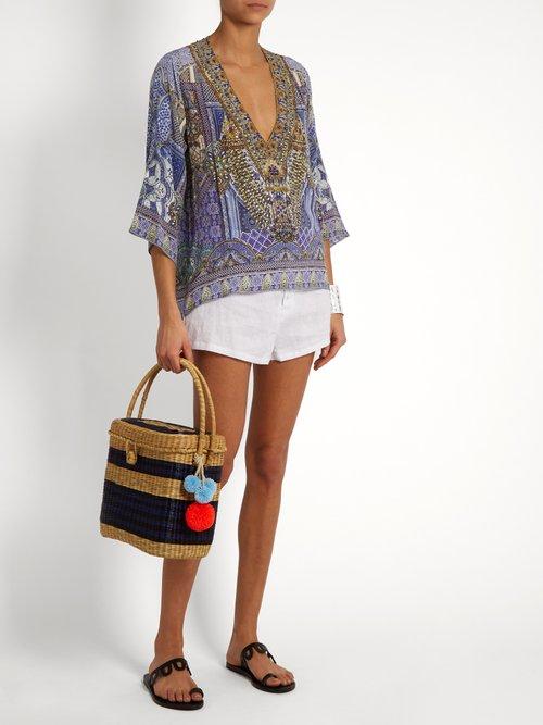 It Was All A Dream-print silk top by Camilla