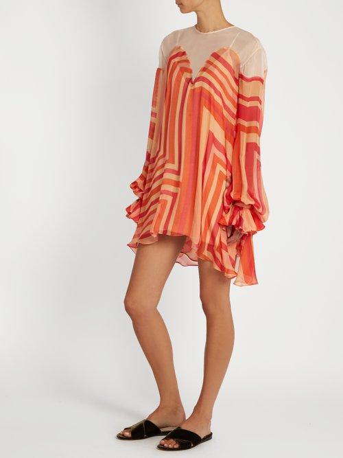Geo Print Silk Chiffon Dress by Katie Eary