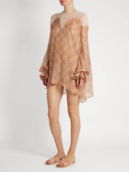 Snake-print silk-chiffon dress by Katie Eary