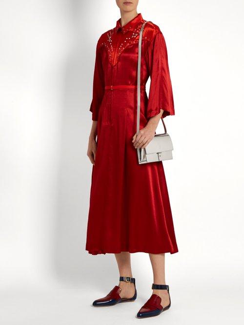 Embellished satin dress by Toga