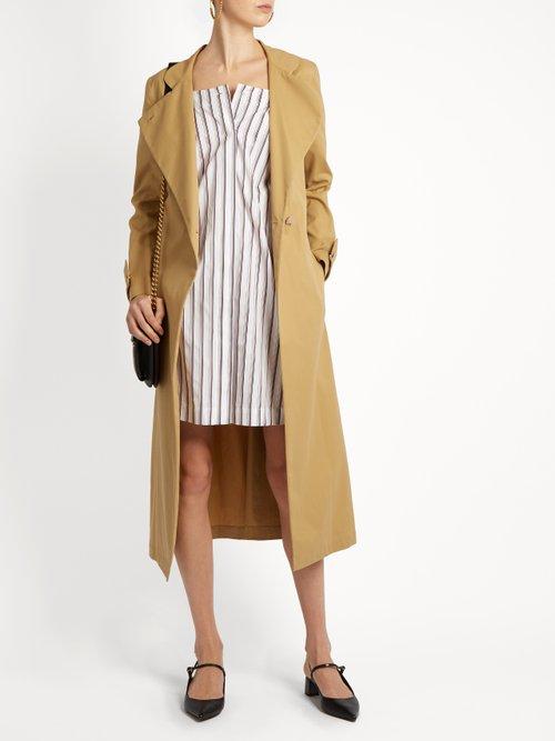 Bunting Stripe button-down cotton mini dress by Isa Arfen