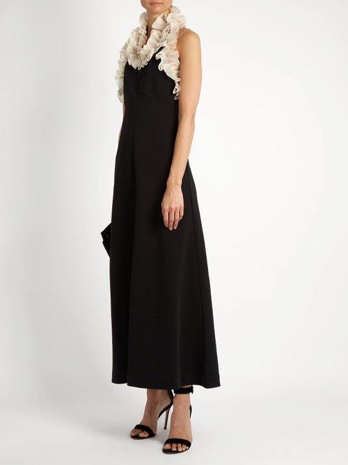 Jane ruffled-neck cotton dress by Isa Arfen