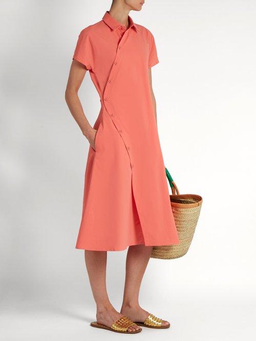 Asymmetric cotton-blend poplin shirtdress by Tomas Maier