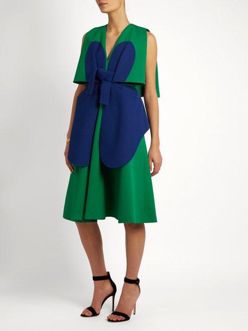 Bi-colour structured cotton dress by Delpozo
