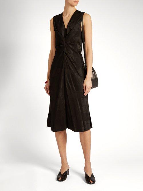 Ravenax V-neck satin dress by Isabel Marant