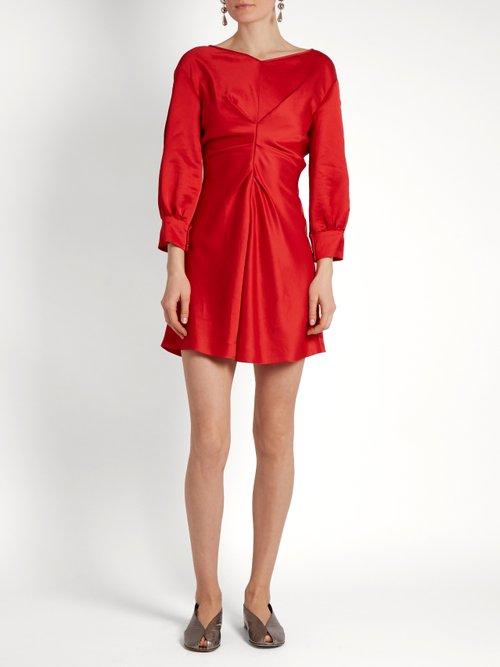 Rad V-neck satin dress by Isabel Marant