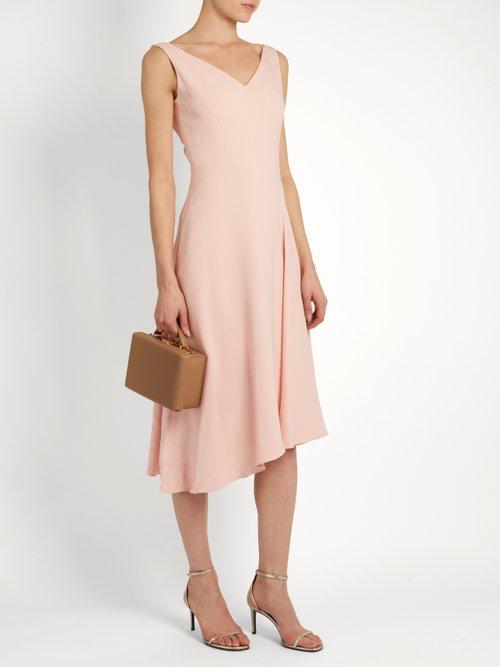 Elizabeth V-neck crepe dress by Osman