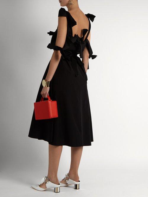 Tie-waist cotton-poplin dress by Maison Rabih Kayrouz