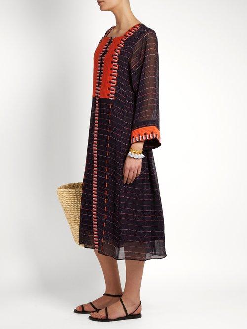 Las Casas embroidered silk dress by Apiece Apart