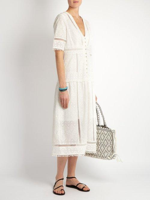 Caravan embroidered cotton dress by Zimmermann
