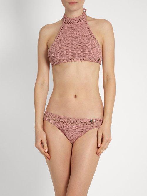 Jannah Cheeky crochet bikini briefs by She Made Me