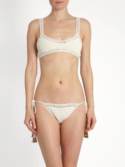 Essential Tie-Side crochet bikini briefs by She Made Me