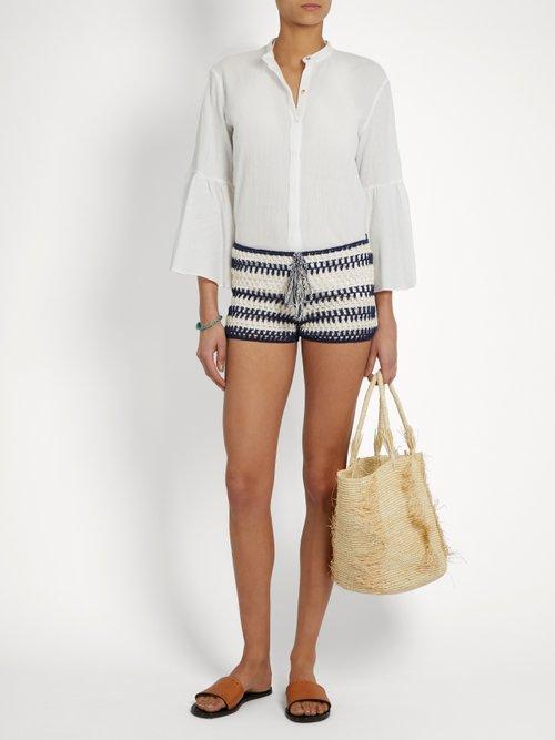 Baja crochet shorts by Anna Kosturova