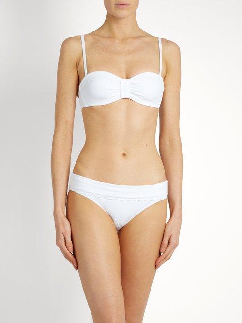 Ostuni scallop-edged bikini briefs by Heidi Klein