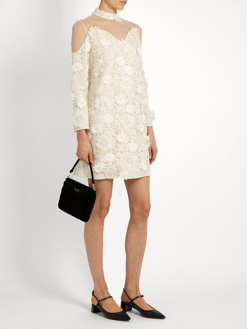 Petal guipure-lace dress by Huishan Zhang