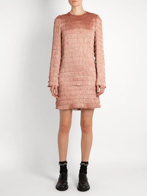 Long-sleeved fringed dress by Raey