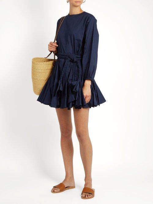 Ella belted cotton dress by Rhode Resort