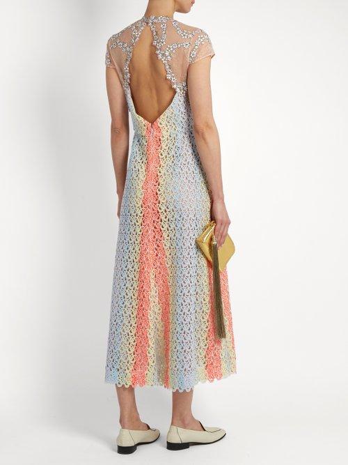 Putman guipure-lace open-back dress by Gabriela Hearst