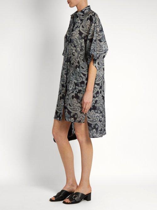 Debrah paisley-print step-hem shirtdress by Acne Studios