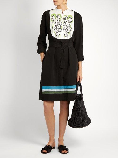 Zuma floral-print cotton-poplin dress by Tomas Maier