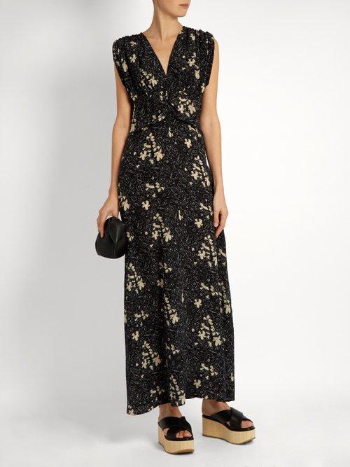 Flower Field-print silk dress by Tomas Maier