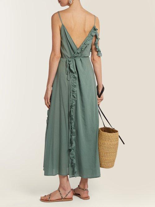 Waterfall cotton wrap dress by Loup Charmant