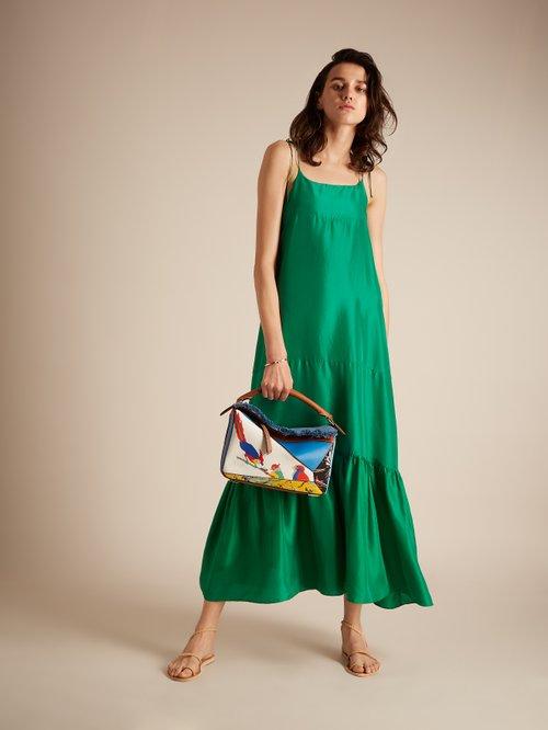 Kalahari silk maxi dress by Loup Charmant