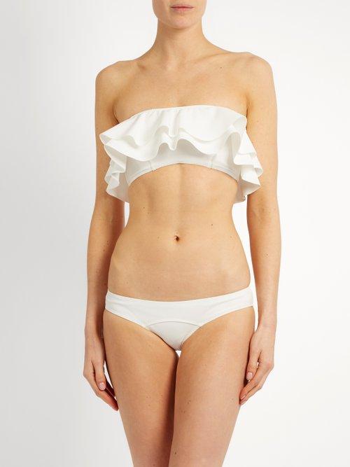 Sabine ruffled bonded bikini by Lisa Marie Fernandez