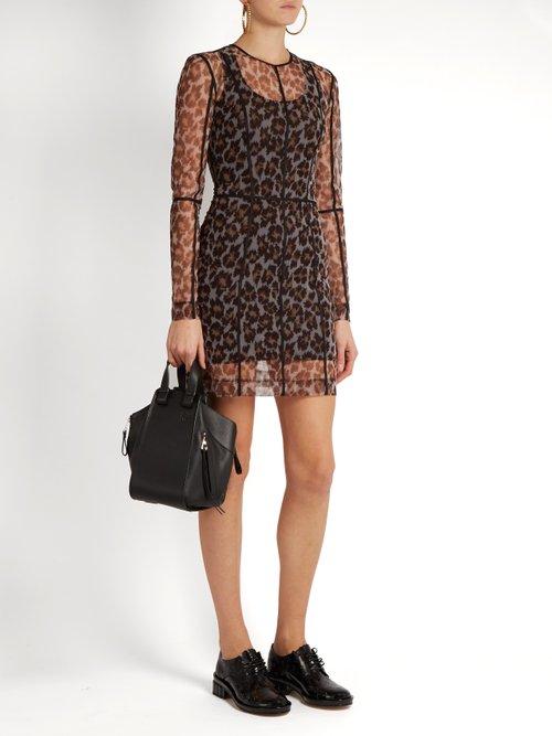 Leopard Print Mesh Dress by Christopher Kane