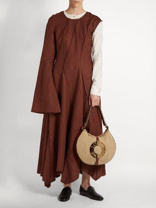 Asymmetric long-sleeved dress by Loewe