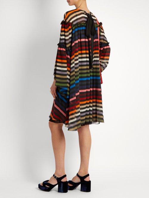 Striped silk-chiffon dress by Sonia Rykiel