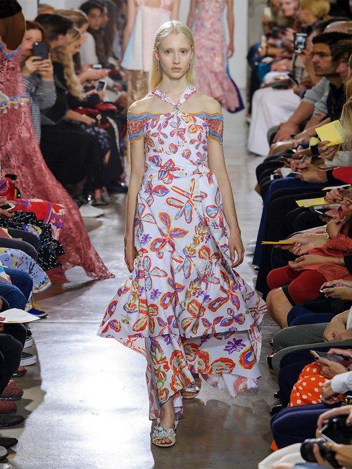 Floral-print halterneck poplin dresss by Peter Pilotto