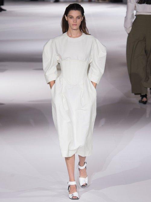 Aleena round-shoulder corset dress by Stella Mccartney