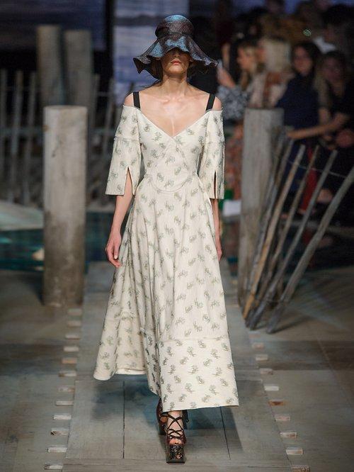 Karol Ottoman cotton-blend dress by Erdem