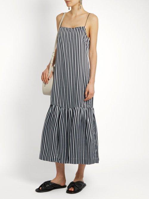 Jewel striped twill cami dress by Elizabeth And James