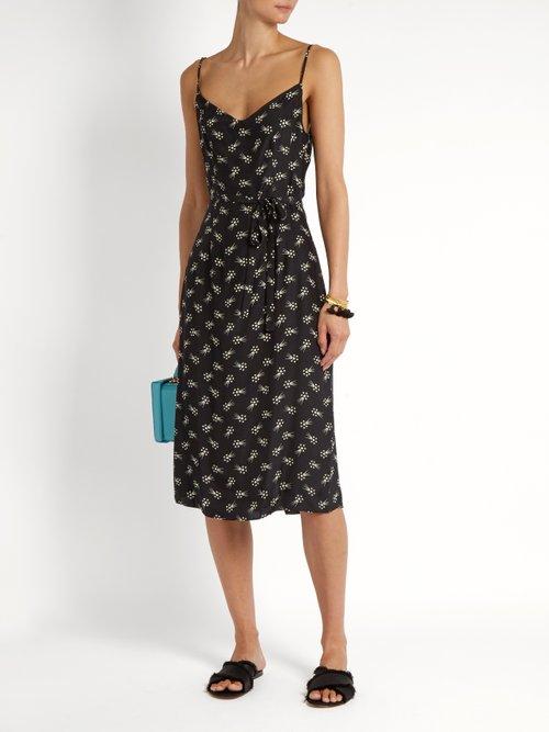 Lily Harley's Comet-print silk slip dress by Hvn