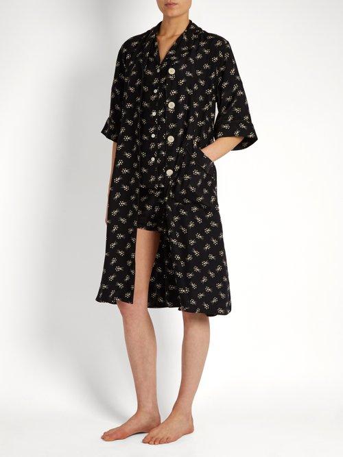 Cassie Harley's Comet-print silk kimono by Hvn