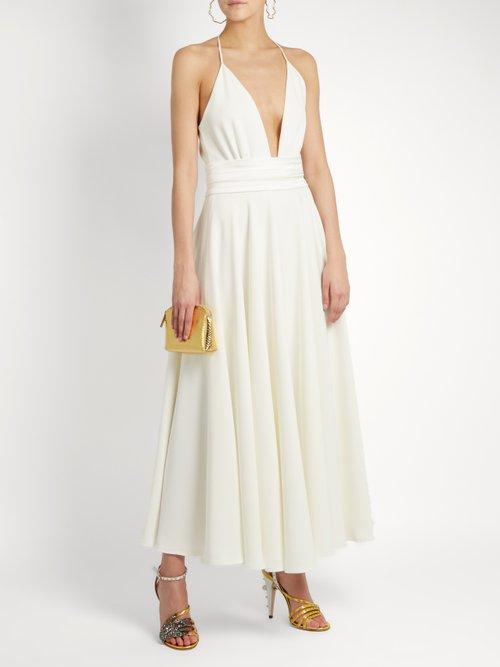 Bianca halterneck crepe dress by Racil
