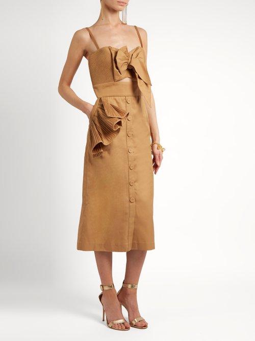 Soledad ruffled cotton-drill dress by Johanna Ortiz